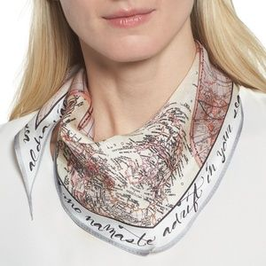 Vince Camuto You Had Me At Ahoy Silk Kite Scarf